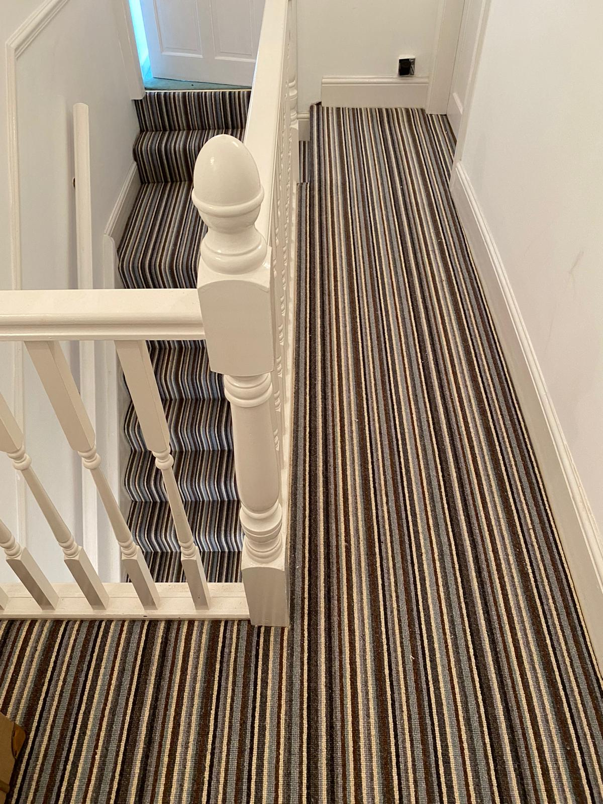 Luxury carpet to landing and stairs