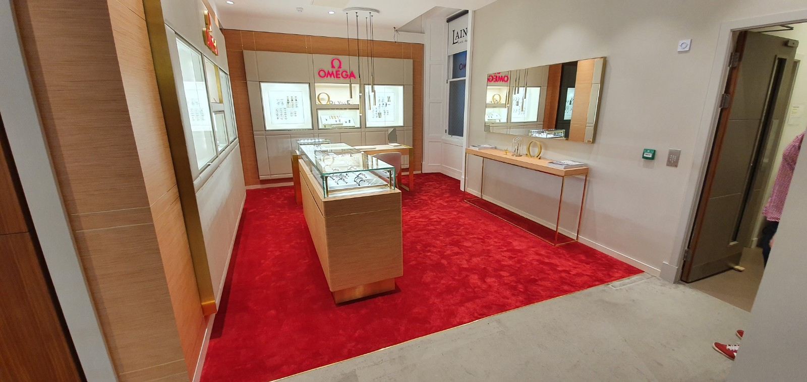 Omega jewellers traditional carpet